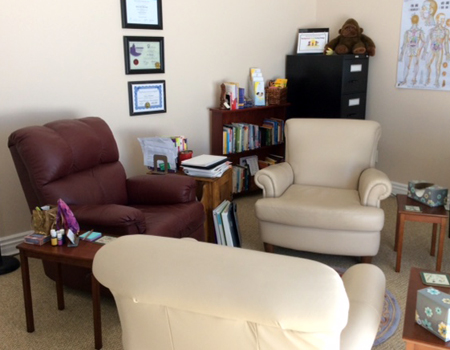 An image of our private, comfortable therapy room.